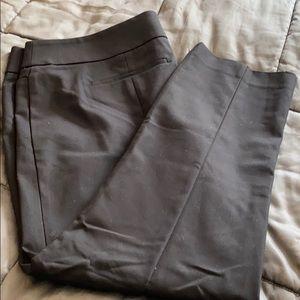 Loft Zoe Ankle Black Dress Pant 18 NWT